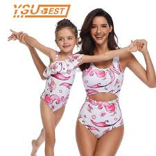 <b>Family Matching Swimwear Mother</b> and Daughter Bikini Clothes ...
