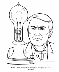 Small Picture Thomas Edison Coloring Page US History coloring pages Homeschool