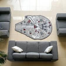 star wars area rug millennium falcon large