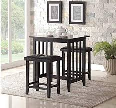 Stylish design furniture Bedroom High Top Dining Table With Stools Black Color Premium Quality Stylish Design Baldita Amazoncom High Top Dining Table With Stools Black Color Premium