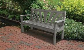 recycled plastic garden bench gray