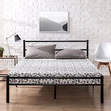 platform bed frame with headboard. Brilliant Headboard Zinus Metal Platform Bed Frame With Headboard And Footboard  Premium Steel  Slat Support Mattress On With I