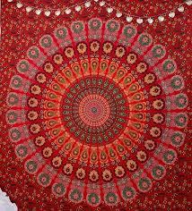 mandala tapestry tapestry red tapestry
