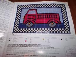 bernat my fire truck latch hook rug kit 33 x 21 tool included 422408