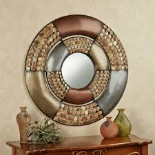 Metal Wall Decorations For Living Room Round Metal Wall Art