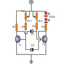 how to make any light a strobe light using just two transistors 12v Strobe Light Wiring Diagram led strobe light circuit using transistors 12v led strobe light circuit diagram