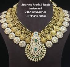 Antique Polki Jewellery Designs Antique Gold Polki Necklace Indian Jewellery Designs