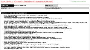 critical care nurse job description duties critical care nurse job description responsibilities