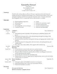 Server Position Resume Resume Template For Server Position Server ...