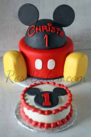 mickey mouse cake and smash cake rose