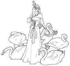 800x756 swan lake coloring pages awesome the story of the swan princess