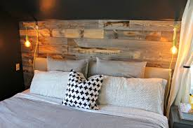 master bedroom reclaimed wood accent wall view from the fridgeview in design 16