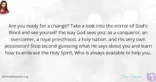 Look In The Mirror Quotes Inspiration Jesse Duplantis Quote About Holy Spirit Mirror Promised All