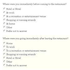 Customer Satisfaction Survey Questions Template Restaurant Survey