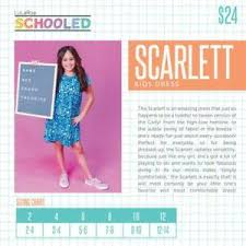 Lularoe Kids Size Chart Details About Lularoe Scarlett Dress Girls Kids Nwt Girls Sizes 2 12