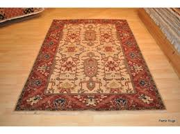 high quality handmade rug 5 x 7 vegetable dyed rug heriz design