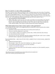 Berkeley Graduate Recommendation Letter How To Ask For A Letter Of Recommendation What Information