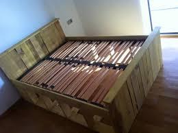 handmade pallet bed frame wood frames diy home design 13