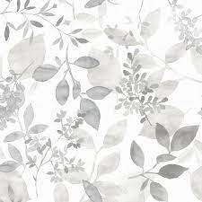 NuWallpaper 30.75-sq ft Grey Vinyl Ivy ...