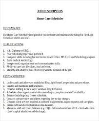 Scheduling Coordinator Job Description Sample - 8+ Examples In