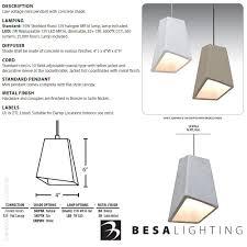 skip led mini pendant light set by besa lighting