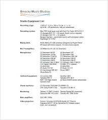 Equipment Checklist Beauteous Equipment List Template 44 Free Sample Example Format Download