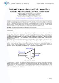 Microwave Horn Design Pdf Design Of Substrate Integrated Microwave Horn Antenna