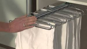Pull Out Coat Rack Sliderobes sliding pull out trouser rail YouTube 10