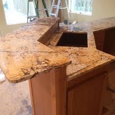 havana granite leathered finished eased edge detail eased edge