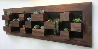 indoor wall planter black walnut