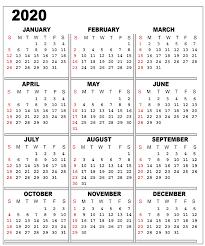 One Sheet Calendar 2020 Free 2020 One Page Calendar Printable Templates Printable