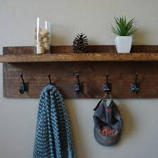 Rustic Coat Rack With Shelf Shop Rustic Shelf With Hooks on Wanelo DIY Pinterest Rustic 13