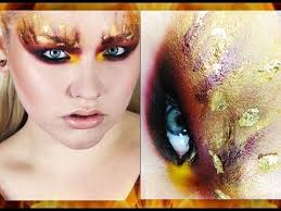 the hunger games the on fire inspired makeup tutorial