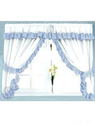 blue kitchen curtains light and white gingham uk an