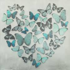 Teal Bedroom Wallpaper Butterfly Love Teal Superfoil Canvas By Arthouse Wallpaper Direct