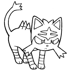 Litten Coloring Pages