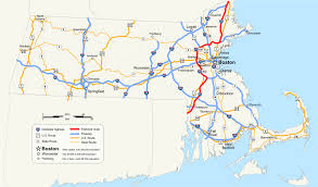 map of eastern us i  px interstate  in massachusetts
