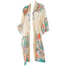 1920s silk asian kimino robe