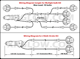 amex 5 Wire 4 Led Strobe Light Diagram if more than 2 bulbs need to be installed, apply the y spliter wire to distribute the lights (check the diagram on the left below for various connection 4 Round LED Lights