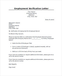 Professional Proof Of Employment Or Verification Letter Sample