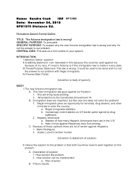 persuasive speech outlines co persuasive speech formal outline