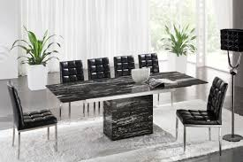 simple zeus black nero marble extending dining table 6 d 214 chairs marble dining table