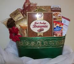 gold bordered green holiday basket