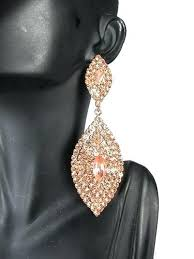 gold chandelier earrings get ations a gorgeous fashion rose gold crystal tear dangle large chandelier
