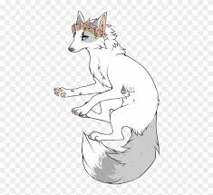 white wolf drawing anime. Exellent White Wolf With Crown Drawing  Anime Flower Inside White I