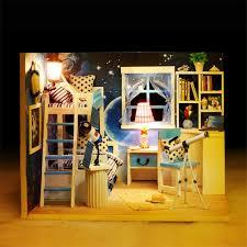 handmade dolls house furniture. Wholesale 3d Handmade Doll House Furniture Miniatura Diy Astronomy Miniature Dollhouse Wooden Toys For Children Girl Boy Birthday Gift Large Wood Dolls O