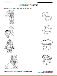 weather match under the critical thinking skills workshets there is another weather worksheet led winter or summer which is a cut and paste