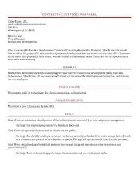 Formal Proposal Example Inspiration 48 Sample Proposal Templates In Microsoft Word