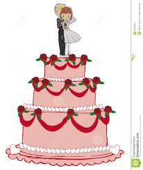 Wedding Cake Stock Vector Image Of Marriage Love Illustration