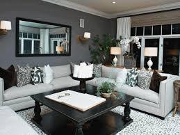 sleek living room furniture. Classy Black Wooden Coffee Tale Sleek White Davenport Sofa Simple Plain Gray Wall Paint Fancy Brown Sconce Home Living Room Furniture